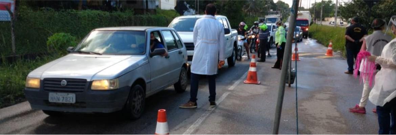 barreira sanitaria - Prefeitura de Lucena esclarece que não proibiu entrada de turistas durante o Carnaval