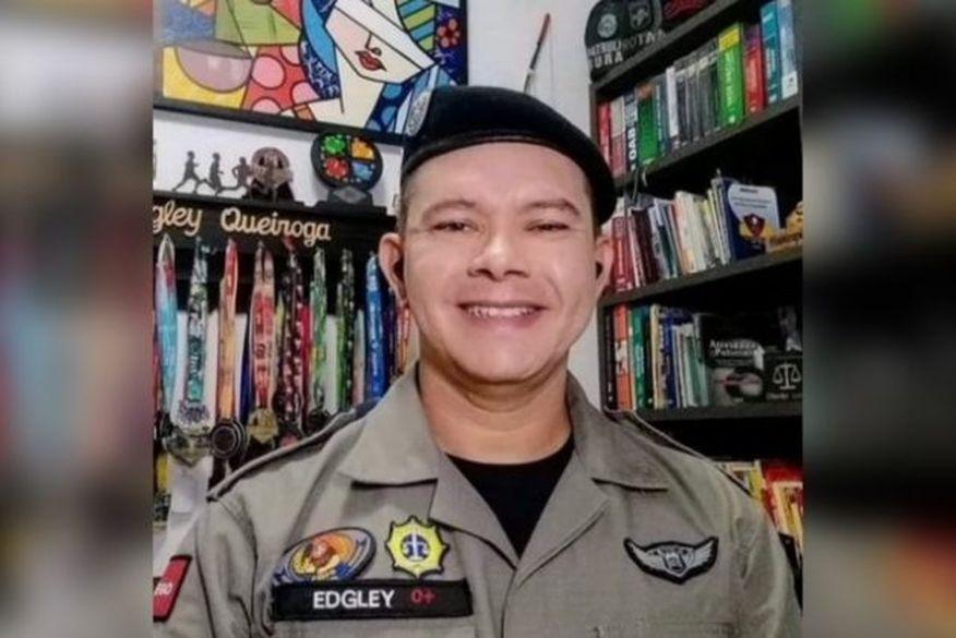 edgley queiroga 1 - LUTO! Sargento da Polícia Militar da Paraíba morre vítima de covid-19 aos 42 anos de idade