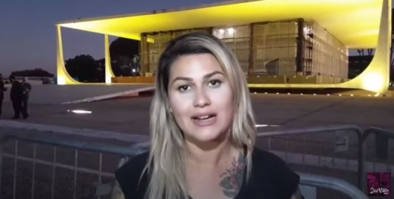 image 1 - Denúncias contra Sara Winter por ataques a Alexandre de Moraes são rejeitadas pela Justiça do DF