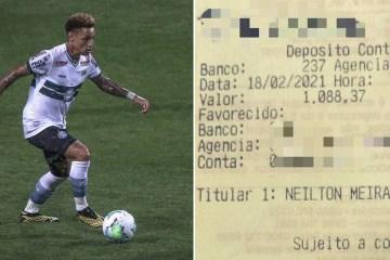 Após errar número de conta, jovem transfere R$ 1 mil para jogador de futebol