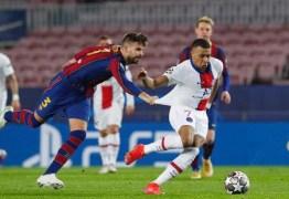 Mbappé brilha, marca três gols e PSG goleia o Barcelona na Champions