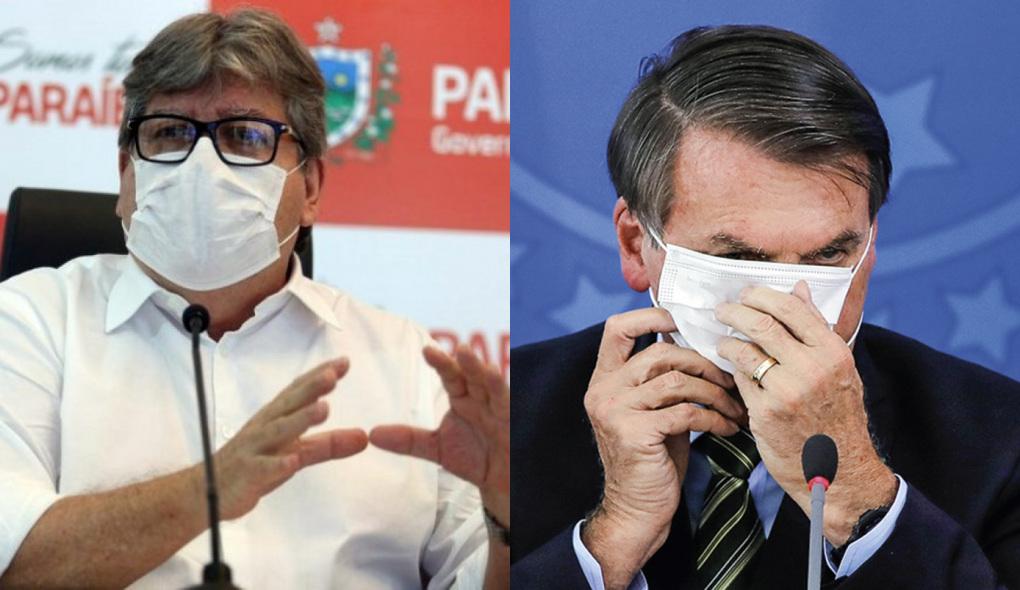 1614603554484476 - João rebate Bolsonaro e nega que Paraíba tenha recebido R$ 21 bilhões para combater pandemia