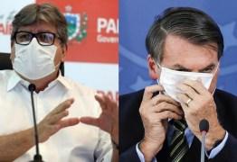 João rebate Bolsonaro e nega que Paraíba tenha recebido R$ 21 bilhões para combater pandemia