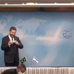 9328162 x240 - Em Israel, Ernesto Araújo é advertido por mestre de cerimônia a colocar máscara; VEJA VÍDEO