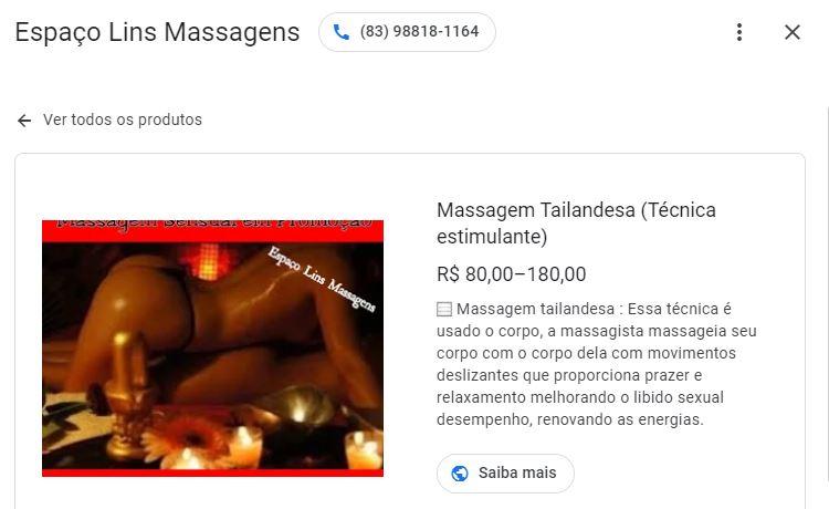 """Capturar 30 - CAMINHOS DO PRAZER: casas de massagem em João Pessoa oferecem satisfação com massagem excitante e até """"ejaculação espetacular""""; confira"""