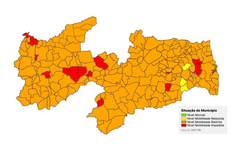 Capturar 48 - NOVA AVALIAÇÃO DA PANDEMIA: Número de municípios em bandeira vermelha quase dobra na Paraíba; confira