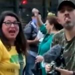 "Capturar.JPGii  - Bolsonaristas atacam e xingam a atriz Angela Dippe por usar máscara: ""Escrava do comunismo"" - VEJA VÍDEO"