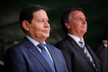 """Mourão sobre pesquisa para eleição: """"Lula não pode ser candidato, né?"""""""