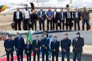CONTROVERSOS: Comitiva do Brasil posa sem máscara no embarque e de máscara em Israel