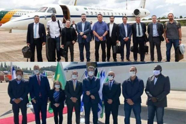 Capturar.JPGtttttt - CONTROVERSOS: Comitiva do Brasil posa sem máscara no embarque e de máscara em Israel