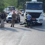 WhatsApp Image 2021 03 07 at 17.11.33 - IMAGENS FORTES: Após bater em carreta, moto é arrastada por 32 quilômetros na BR-101 - VEJA VÍDEO