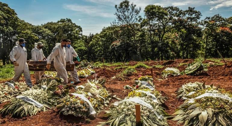 cemiterio vila formosa vala covid coronavirus 12032021165916907 - EXPLOSÃO DE DEMANDA: Setor funerário prevê o triplo de mortes diárias no pico da pandemia