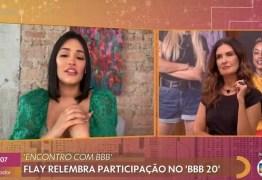 NÃO VEJO GRAÇA': Fátima Bernardes comete gafe no 'Encontro' ao mostrar cena de briga entre Flay e Rafa Kalimann
