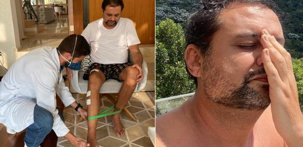 geraldo luis faz fisioterapia para recuperar movimentos da perna direita 1616509786776 v2 615x300 - Com sequelas da Covid-19, Geraldo Luís perde movimentos da perna direita