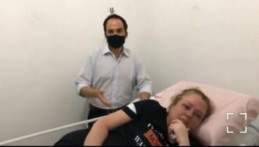 jasa - Jornalista Jasa Costa recebe alta hospitalar após passar 75 dias internada por complicações de uma cirurgia bariátrica