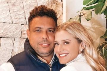 ronaldo e namorada e1615208299682 - Companheira de Ronaldo fenômeno faz post sugerindo gravidez; ex-jogador será pai pela quinta vez