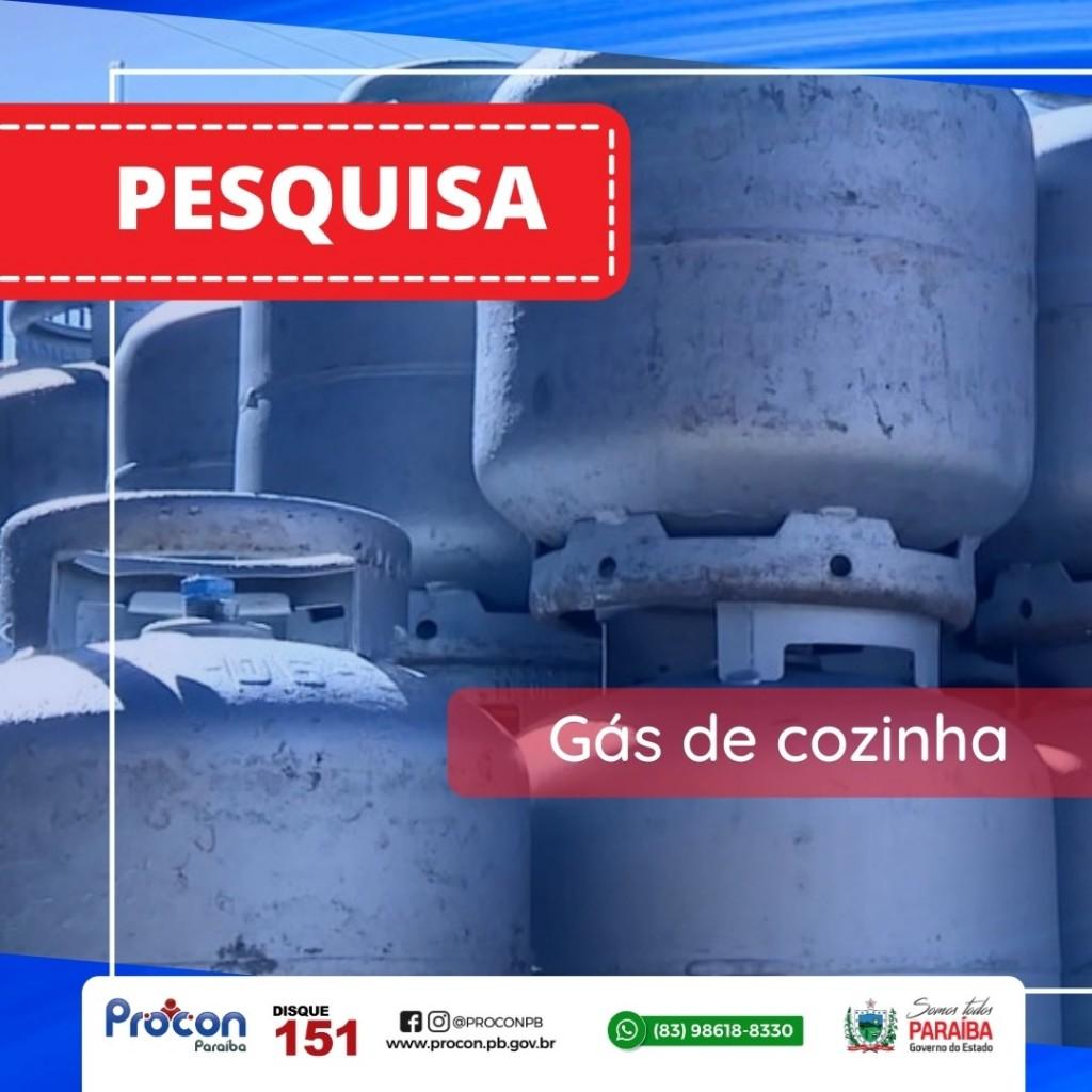 09cc58d9 c12e 4ce5 a512 9366649a4300 - Pesquisa do Procon-PB aponta que menor preço do gás de cozinha com entrega é encontrado por R$ 82,00, em João Pessoa
