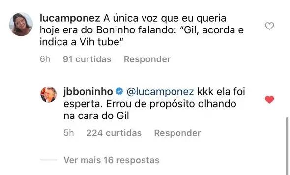 20210421 whatsapp image 2021 04 21 at 08.30.07 - SEM PAPAS NA LÍNGUA! Boninho denuncia atitude de Viih Tube durante a prova do líder