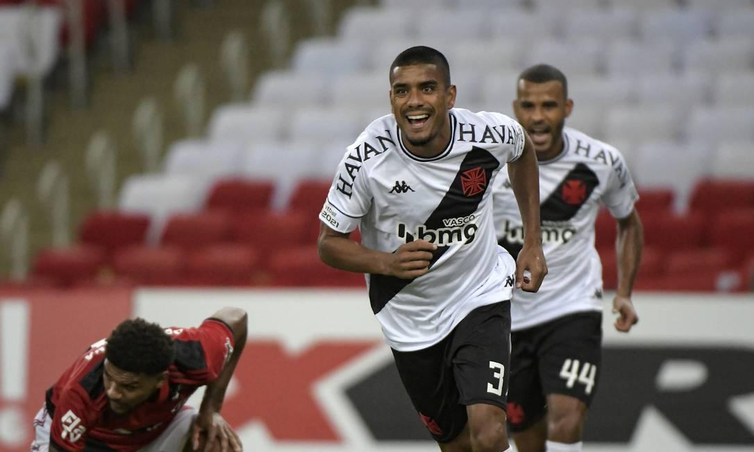 92482876 Rio de Janeiro RJ 15 04 2021FLAMENGO vs VASCOLeo Matos do Vasco comemora gol Par - Vexame do Fla no Maracanã: soberba ou falta de concentração?