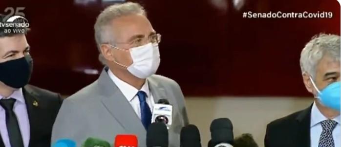 Capturar 66 - Preocupado com a pandemia? Flávio Bolsonaro critica aglomeração da CPI da covid e Renan Calheiros ironiza - VEJA VÍDEOS