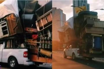 """Vídeo mostra como é possível levar a """"casa inteira"""" em uma picape"""