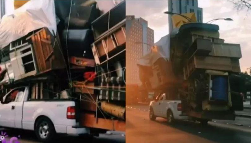 """Capturarqaq - Vídeo mostra como é possível levar a """"casa inteira"""" em uma picape"""