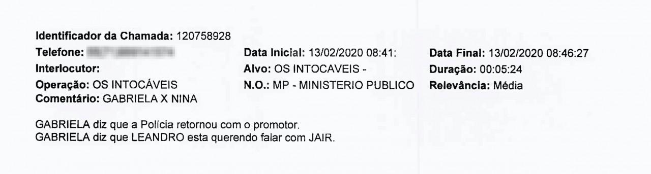 CasaVidro PrintNina - 'O CARA DA CASA DE VIDRO': Grampos sugerem que comparsas do miliciano Adriano da Nóbrega recorreram a Bolsonaro