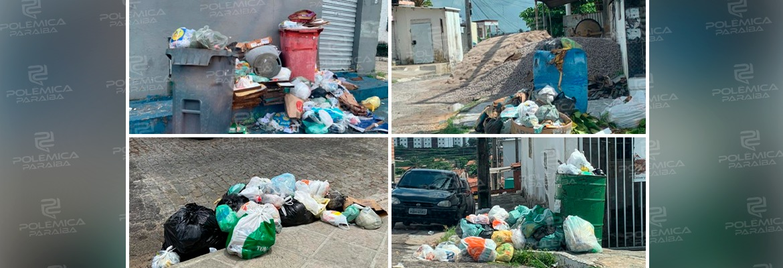WhatsApp Image 2021 04 14 at 11.00.48 - GUERRA DO LIXO EM JP: moradores denunciam acúmulo de lixo nas ruas da capital; prefeitura garante a normalidade da coleta