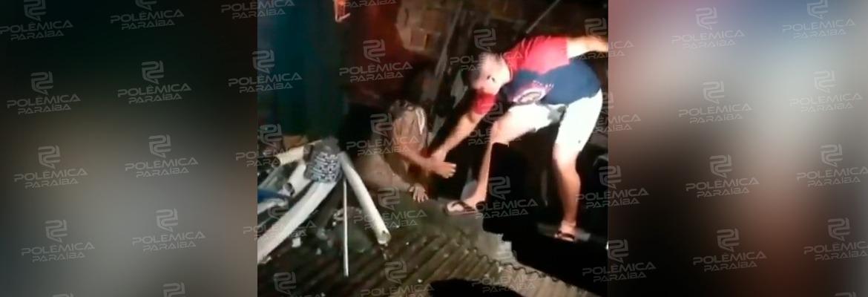 WhatsApp Image 2021 04 19 at 09.57.11 - Policial militar de folga salva mulher que estava com a casa em chamas em João Pessoa - VEJA VÍDEO