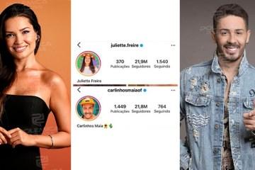 """WhatsApp Image 2021 04 20 at 16.55.57 - Juliette ultrapassa número de seguidores de Carlinhos Maia e humorista responde: """"quando ela sair eu peço um @"""""""