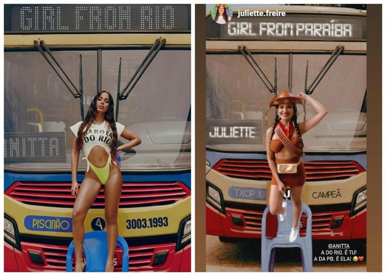 anitta 21769456 - Anitta reposta meme de Juliette e fãs comemoram: 'Donas do Brasil'