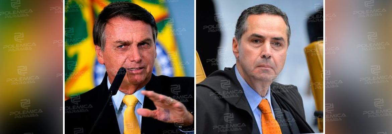 "bolsonaro barroso - Bolsonaro critica Barroso por determinar ao Senado instalar a CPI da Pandemia: ""Faz politicalha junto ao Senado"""