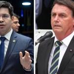 """bolsonaro e randolfe - Bolsonaro xinga e fala em """"ir para porrada"""" com senador Randolfe durante conversa divulgada por Kajuru"""