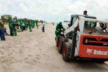 Lixo para praias da Grande João Pessoa pode ter sido trazido por correntes marítimas