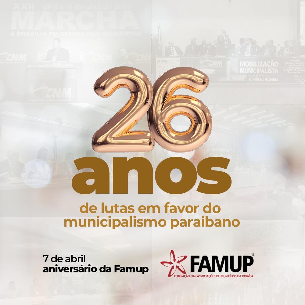 cfaf274c 41fc 4bc4 9c76 07da7f517be2 - Famup comemora 26 anos e se destaca pela defesa do municipalismo e luta no combate à covid-19