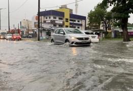 João Pessoa registra grande volume de chuvas neste domingo (18)