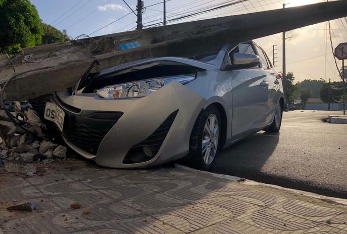 csm acidente exvereador joao pessoa foto flavio fernandes 5e89bce890 - Ex-vereador de João Pessoa bate em poste ao perder controle de veículo