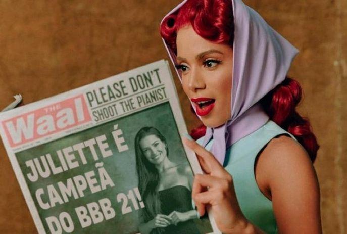 csm bbb 21 anitta compartilha meme de juliette 1619478836693 v2 900x506 31b1d6aba4 - Montagem de Anitta com Juliette aparece em Twitter de premiação de música