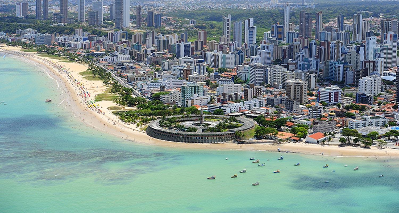 joao pessoa aerea praia tambau - RESPIRA QUALIDADE DE VIDA: João Pessoa é eleita melhor cidade do Brasil para se morar após aposentadoria - VEJA VÍDEO