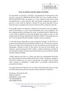 nota defesa ricardo coutinho   bloqueio valores page 0001 212x300 - Defesa de Ricardo Coutinho emite nota e nega pedido de desbloqueio de valores no STF
