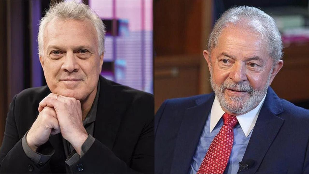 """pedro bial e lula - Pedro Bial diz que só entrevista Lula ao vivo se ex-presidente usar detector de mentiras: """"Teria que ter um poligrafo acompanhando""""- VEJA VÍDEO"""