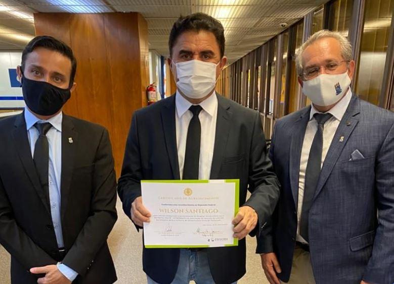 wilso - Wilson Santiago é homenageado após repassar emenda de R$ 6,3 milhões para HU de JP