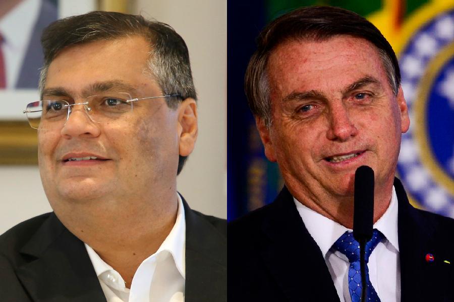 Bolsonaro nova 1 - Chamado de 'gordinho ditador' por Bolsonaro, governo de Flávio Dino multa presidente por aglomeração
