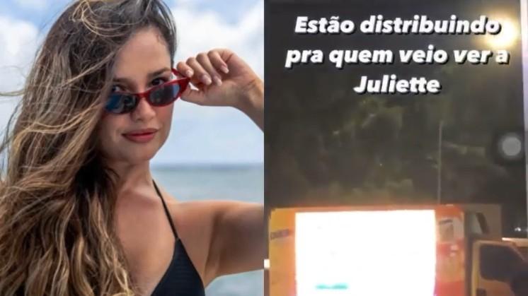 Capturar 11 - Caminhão do Pippo's: fãs que esperam Juliette na porta de hotel recebem o famoso salgadinho citado pela paraibana - VEJA VÍDEO