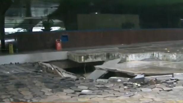 Capturar 56 - FORTES CHUVAS: Cratera abre mais uma vez na rodoviária de João Pessoa - VEJA VÍDEO