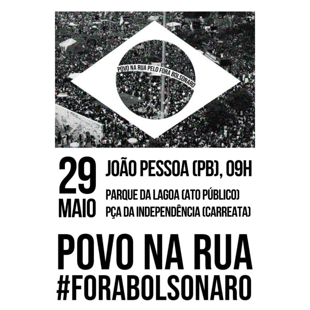 "Lagoa 1024x1024 1 - ""POVO NA RUA, FORA BOLSONARO"": Paraíba terá protesto contra Bolsonaro no próximo sábado"
