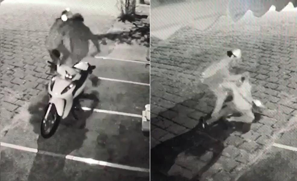 agressao3 - Câmera de segurança flagra momento em que mulher luta com ex-companheiro e escapa de ser morta a facadas- VEJA