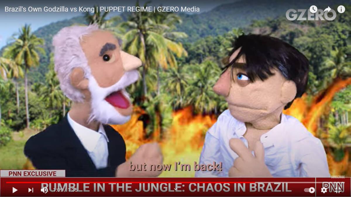 """animacao lula bolsonaro e1622042145443 - Programa de animação americano faz sátira com Bolsonaro que só teme seu pior inimigo: """"Lula"""" - VEJA VÍDEO"""