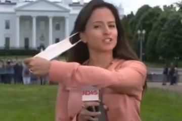 eckkqf56mhol9oqahlih0sbuv - Vacinada, repórter da GloboNews tira máscara ao vivo, nos EUA