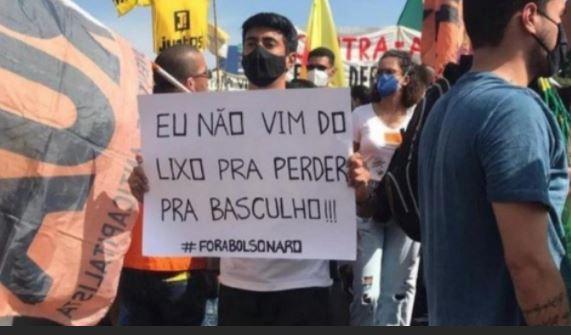 gil 5 - Frases de Gilberto aparecem em cartazes durante protestos contra Bolsonaro